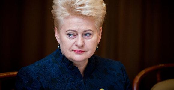Briuseliui reiškiant nerimą, D.Grybauskaitė sveikina JAV Kongreso sankcijas Rusijai