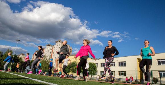 Miegamuosiuose rajonuose galima ne tik miegoti: Šilainių gyventojai pradėjo vasaros sporto maratoną
