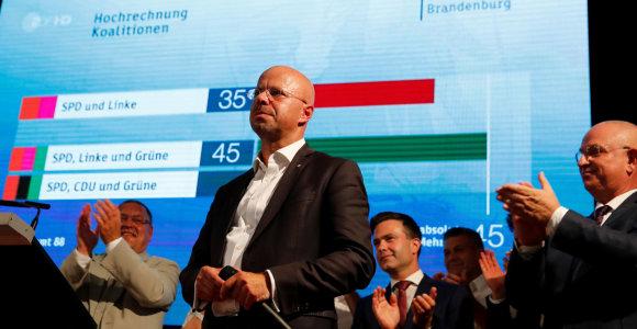 Vietos rinkimuose rytinėje Vokietijoje pozicijas stiprina kraštutiniai dešinieji