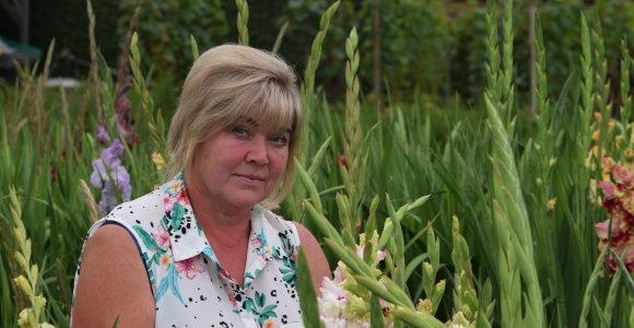 Buvusi policijos komisarė-inspektorė tapo gėlių kolekcininke: tikisi išvesti savo kardelių veislę