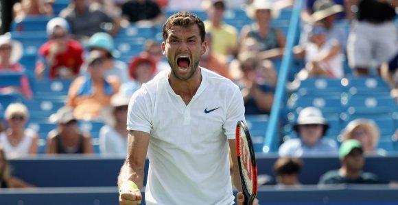 Pirmas kartas karjeroje: Grigoras Dimitrovas pateko į Sinsinačio turnyro finalą