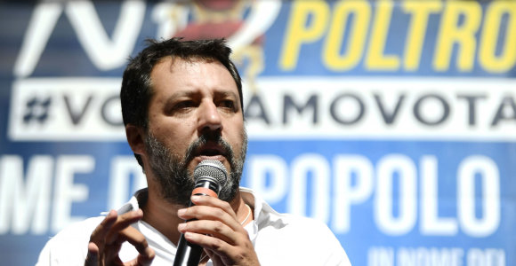 """Italijos populistų lyderis M.Salvini žada """"rimtą opoziciją"""" valdantiesiems"""