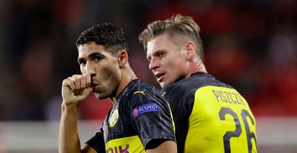 """Čempionų lyga: nelengva """"Borussia"""" pergalė ir """"Napoli"""" lygiosios Belgijoje"""