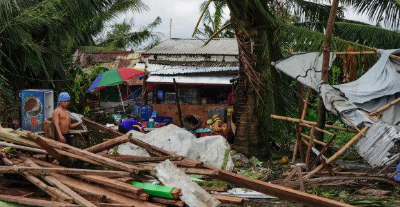 Filipinuose taifūno aukų padaugėjo iki 50