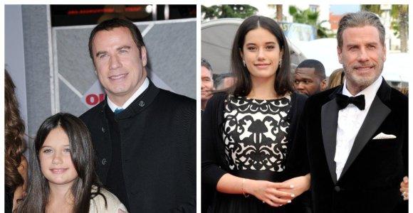 Johno Travoltos dukra – aktoriaus kopija visomis prasmėmis: į tėtį panaši mergina išbandė aktorystę