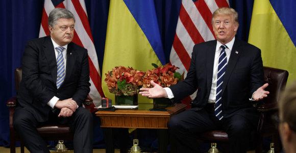 BBC: P.Porošenka už susitikimą su D.Trumpu jo advokatui sumokėjo 400 tūkst. dolerių