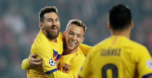 """Čempionų lygoje – L.Messi greitas įvartis ir pirmasis """"Ajax"""" pralaimėjimas"""
