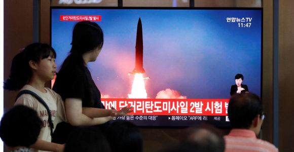 ES pasmerkė Pchenjano atliktą raketos bandymą
