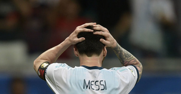 Lioneliui Messi – bauda ir diskvalifikacija