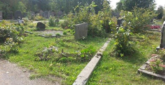 Klaipėdos Joniškės kapinėse nugriuvęs stulpas tris mėnesius niekam neužkliuvo