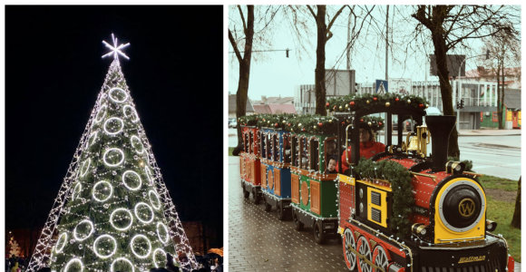 Raseinių kalėdinis stebuklas: nusivylimo sulaukusi praeitų metų eglutė sužibo naujomis spalvomis