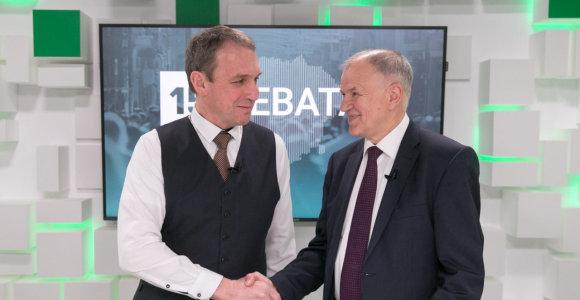 15min studijoje – prezidento posto siekiančių V.P.Andriukaičio ir A.Juozaičio debatai