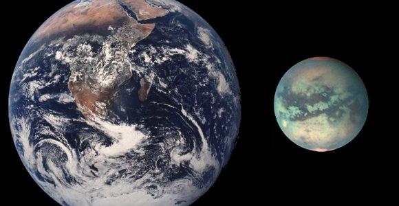 Mokslininkai: Saturno palydovo Titano paviršių formavo tokios pačios jėgos kaip ir Žemėje
