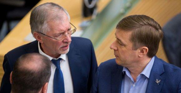 """Įstrigo Seimo rinkimų įstatymo pataisos: A.Mazuronis tikina, kad """"valstiečius"""" prievartauja koalicijos partneriai"""
