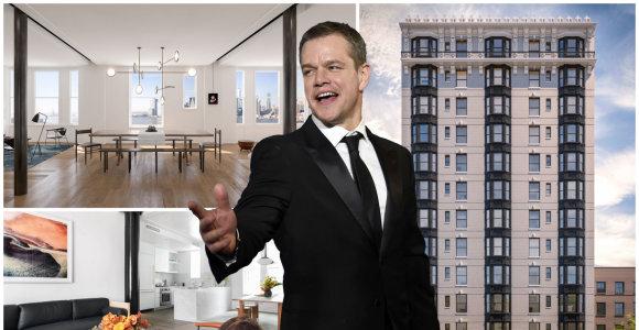 Holivudo žvaigždė Mattas Damonas įsigijo brangiausią butą Brukline: kaina – rekordinė