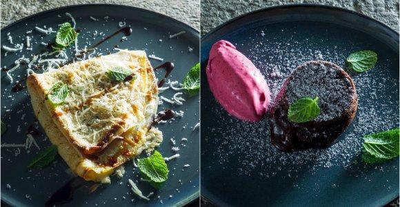 Greitų ir įdomių patiekalų dvejetas: lietiniai itališkai ir desertas per 15 minučių