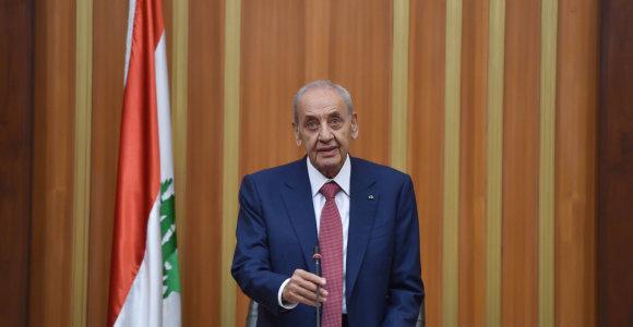 Libano parlamentas per balsavimą dėl pasitikėjimo parėmė naująją vyriausybę