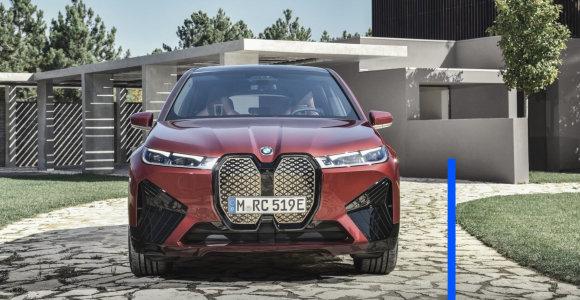 """""""Deals on Wheels"""": pasirodė naujasis """"BMW iX"""". Kopiama aukštyn su noru atrodyti prabangiai"""
