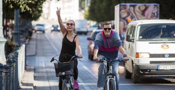 Vilniuje dviratininkai rieda stilingai