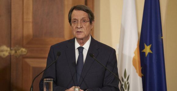 Ūkio banko įrašai: Kipro prezidentas susijęs su skandalinga pinigų plovimo istorija