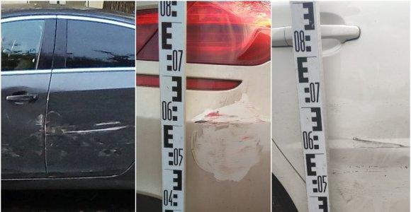 """Šiauliuose stringa keli tyrimai: apgadinti """"Opel"""", BMW ir """"Volvo"""" – kaltininkai pasislėpė"""