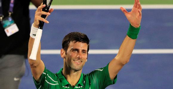 Novakas Džokovičius Dubajaus turnyro aštuntfinalį pasiekė per valandą