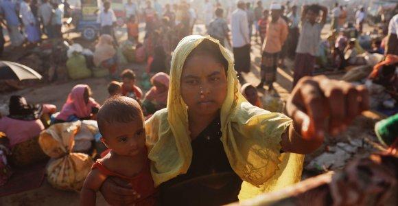 """JT: 600 tūkst. rohinjų Mianmare iškilusi """"rimta genocido grėsmė"""""""