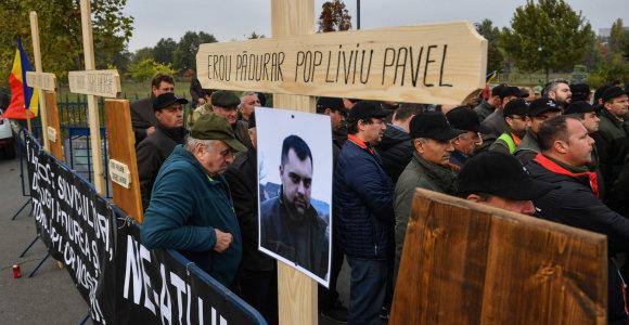 Rumunijoje miškų eiguliai protestavo dėl išpuolių prieš jų kolegas