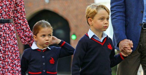 Princo George'o ir princesės Charlotte mokykloje – baimė dėl koronaviruso: 4 mokiniams atlikti tyrimai