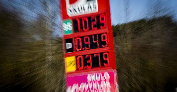 Degalų kaina Lietuvoje persirito į centų zoną, pasaulyje ima trūkti rezervuarų
