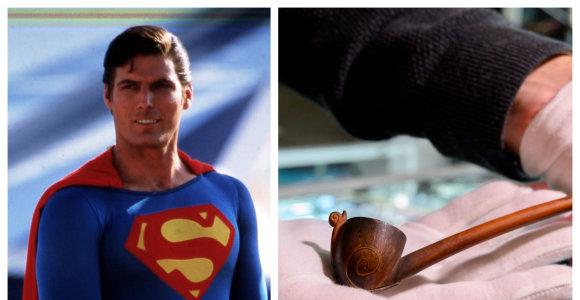 Holivudo aukcione parduodami Supermeno apsiaustas ir Bilbo Beginso pypkė