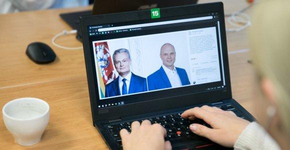K.Krivickas savo politinei reklamai G.Nausėdos atvaizdą panaudojo neatsiklausęs