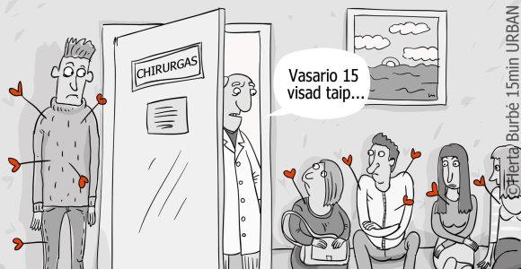 """URBAN˙/ savaitės karikatūra: """"postvalentino"""" sindromas. Kuo gydytis?"""