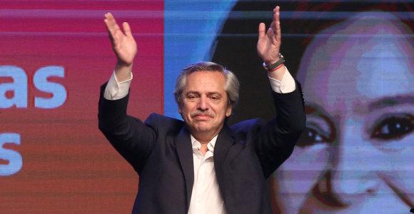 Peronistas A.Fernandezas laimėjo Argentinos prezidento rinkimus