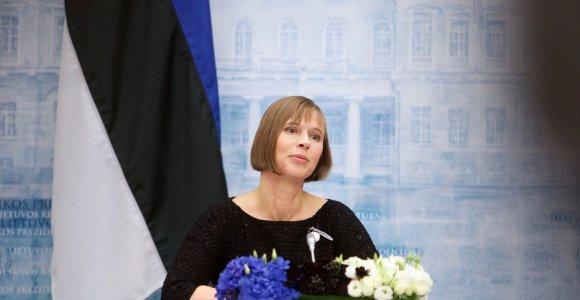 V.Putinas pasveikino Estijos prezidentę su nepriklausomybės šimtmečiu