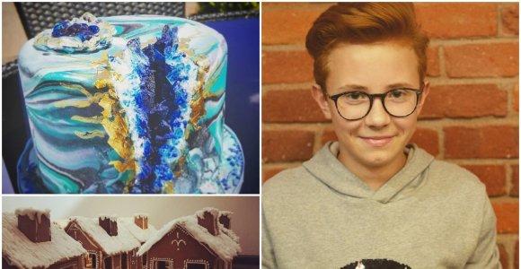 """Tortus dekoruojantis 15-metis Emilis: """"Didžiausia svajonė – atidaryti išskirtinį restoraną Lietuvoje, kitą – Italijoje"""""""