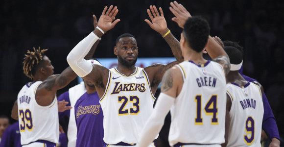 """K.Bryanto akivaizdoje dominavęs LeBronas ir """"Lakers"""" – NBA lyderiai"""