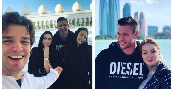 """Su mylimuoju ir Nainiais į Dubajų išvykusi N.Bunkė pateko į stiprią audrą: """"Dangus maišėsi su žeme"""""""