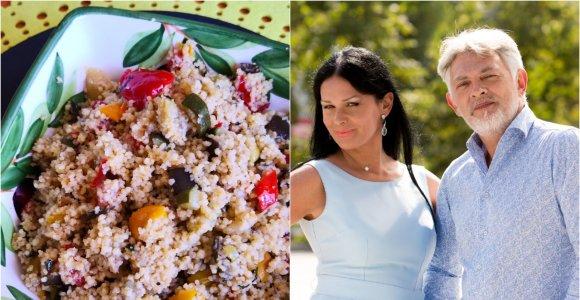 """Vakarienė pas Jurgą ir Paulių. Kuskusas """"alla siciliana"""". Du Sicilijos receptai – vegetariškas ir su jūros gėrybėmis"""