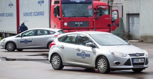 """Neišlaikytas vairavimo egzaminas """"Regitroje"""": dėl kokių klaidų tenka bandyti dar kartą"""