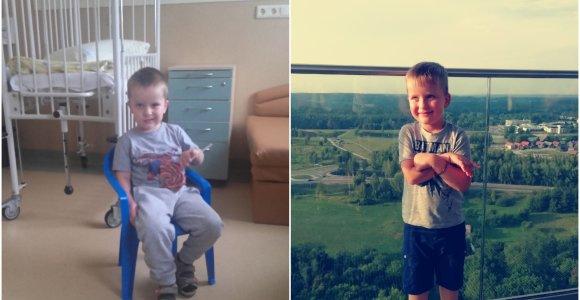 Kai smogė insultas, Tomui buvo tik 3,5 metų: vaikščioti ir kalbėti teko mokytis iš naujo