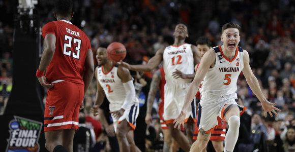 NCAA finalo trileryje – pratęsimas ir istorinis triumfas