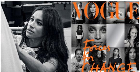 "Meghan Markle tapo Britanijos ""Vogue"" kviestine redaktore: pristatys pokalbį su Michelle Obama"