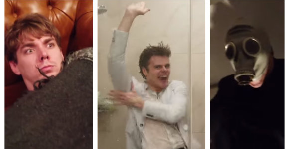 """Grupė """"120"""" nufilmavo siautulingą klipą namuose: maudėsi duše, sulaužė stalą ir neleido kaimynams miegoti"""