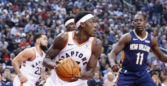 """NBA startas: """"Raptors"""" triumfas po pratęsimo ir istorinis kamerūniečio pasirodymas"""