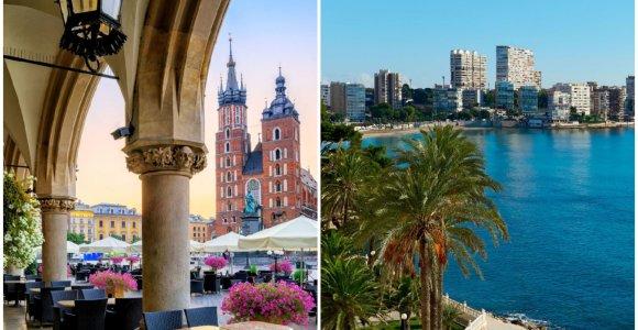 Išrinkti geriausi (ir prasčiausi) Europos miestai trumpai kelionei