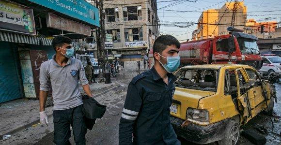 Šiaurės Sirijos Kamišli mieste nugriaudėjo trys sprogimai, yra aukų