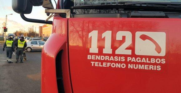 Šiaulių policijos pastato rūsyje degė dujų balionas: komisariatas buvo evakuotas
