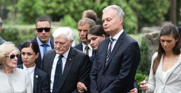 Kaune perlaidoti G.Žemkalnio-Landsbergio ir jo sutuoktinės pelenai
