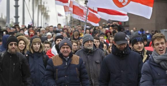 Minske surengta antroji per savaitgalį integracijos su Rusija priešininkų protesto akcija
